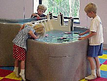 children learning at the Children's Discovery Museum in Grand Rapids