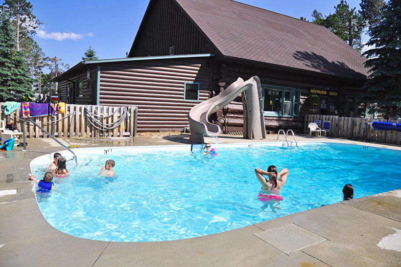 Outdoor pool at Northland Lodge