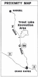 Trout Lake Recreation Area map